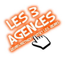 les 3 agences reims, witry les reims, betheny